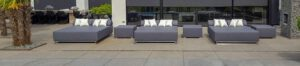 circular outdoor chaise lounge